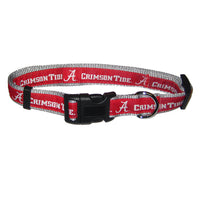 Alabama Crimson Tide Dog Collar-Premium