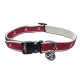 Alabama Crimson Tide Dog Collar-Ribbon