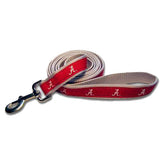 Alabama Crimson Tide Dog Leash-Ribbon