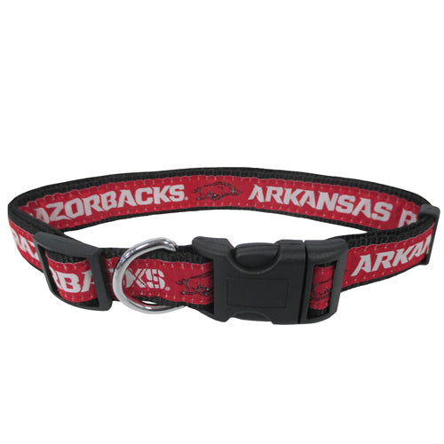 Arkansas Razorbacks Dog Collar- Premium