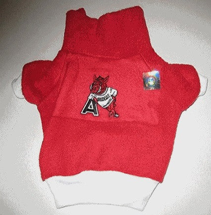Arkansas Razorbacks Dog Fleece Pullover