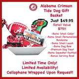 Alabama Crimson Tide Dog Basket