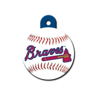Atlanta Braves Engravable Dog I.D. Tag