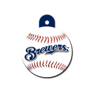 Milwaukee Brewers Engravable Dog I.D. Tag