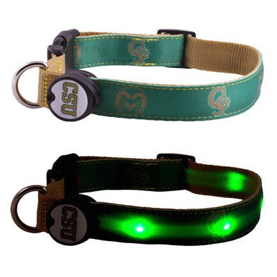 Colorado State Dog E Glow Collar