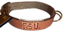 Florida State FSU Leather Collar