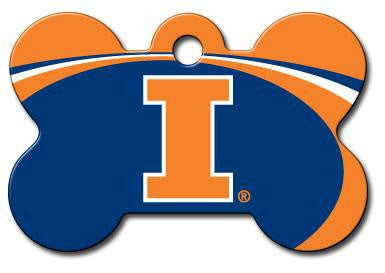 Illinois Fighting Illini Dog ID Tag - Custom Engraved
