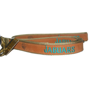 Jacksonville Jaguars Dog Leather Leash