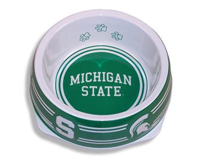 Michigan State Spartans Dog Bowl-Plastic