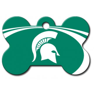 Michigan State Spartans Dog ID Tag - Custom Engraved