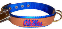 Ole Miss Leather Collar