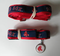 Boston Red Sox Dog Leash-Ribbon