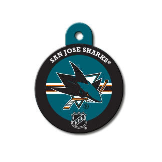 San Jose Sharks Engravable Dog I.D. Tag