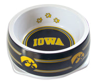 Iowa Hawkeyes Dog Bowl-Plastic