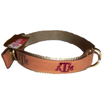 Texas A&M Leather Collar