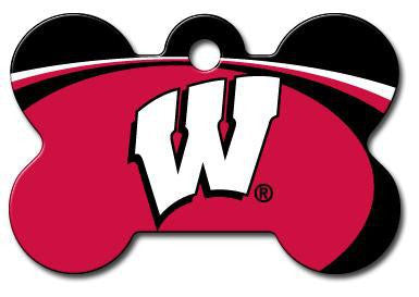 Wisconsin Badgers Dog ID Tag - Custom Engraved