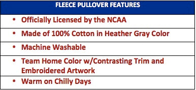 licensed dog fleece pullover features