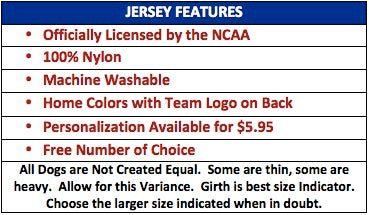 dog jersey features