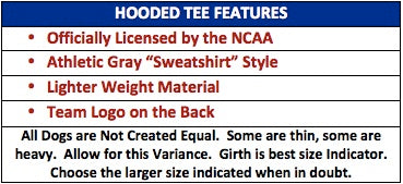 ncaa dog hoodie features