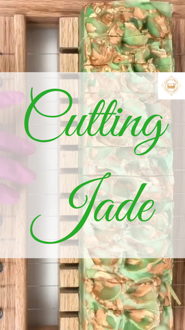 Cutting Jade Goat Milk Soap