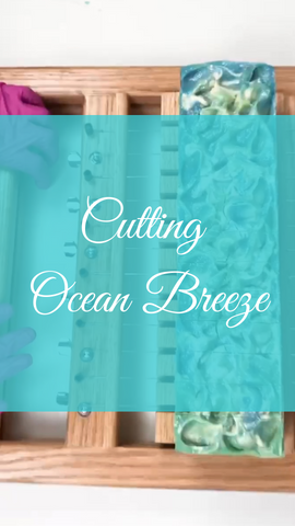 Cutting Ocean Breeze Goat Milk Soap!