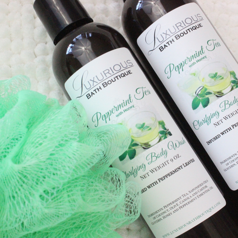 Peppermint Tea with Honey Clarifying Body Wash from Luxurious Bath Boutique