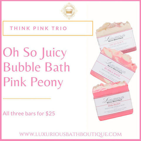 Think Pink Trio from Luxurious Bath Boutique