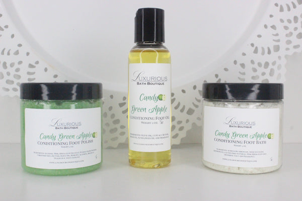 Candy Green Apple Pedicure Set