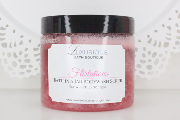 "Flirtatious ""Bath in a Jar"" Body Scrub"