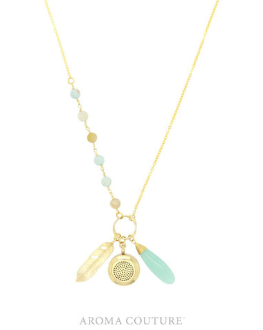 Abby Amazonite Diffuser Necklace