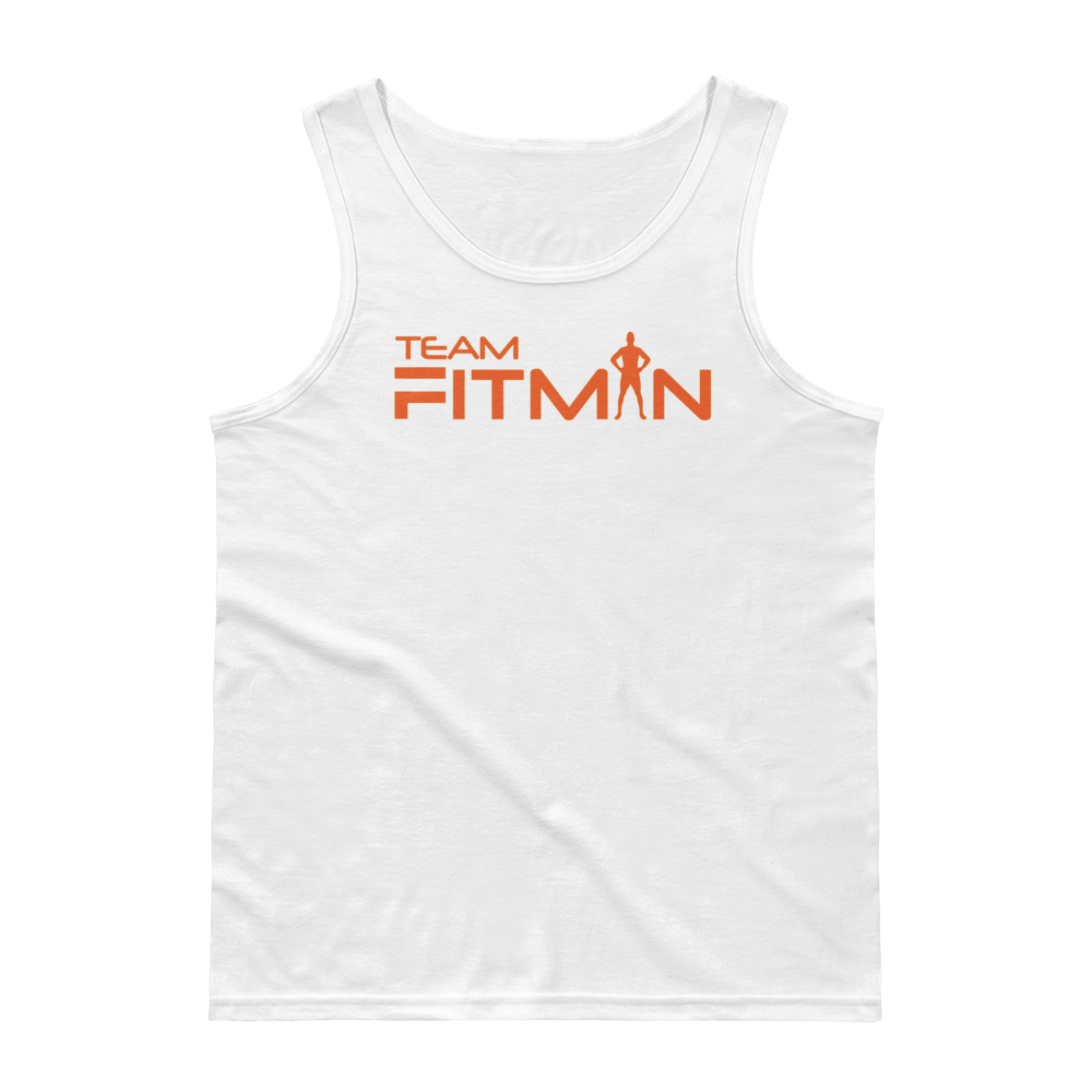 Relaxed Fit Men's Tank Top (Orange)
