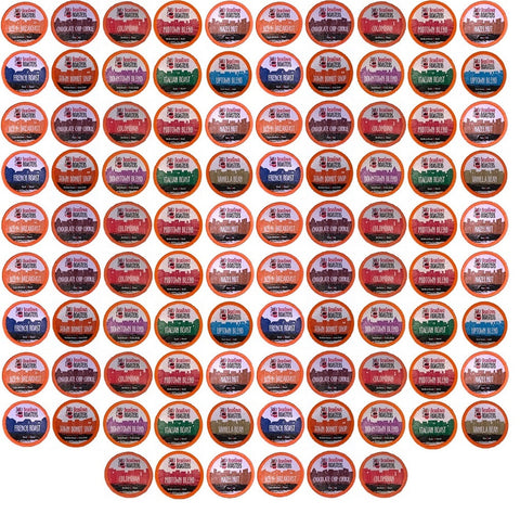 "34 Cent K cups 96 Count Choose 11 or 15 Distinct Coffee Variety Pack (40, 50 or 96 ct) ""No Decaf"" Beantown Roasters K Cup Coffee"