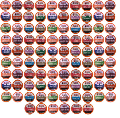 36 Cent K-cups 96 Count Variety Pack 12 or 16 Different Fresh Roasted Beantown Roasters Coffees
