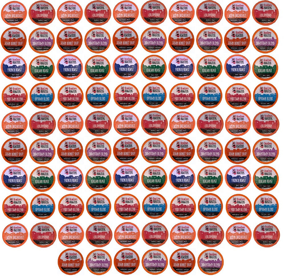 K-cups 96 Pack (8 or 10 Coffees) Beantown Roasters Coffee Only Variety Pack No Decaf, No Flavors