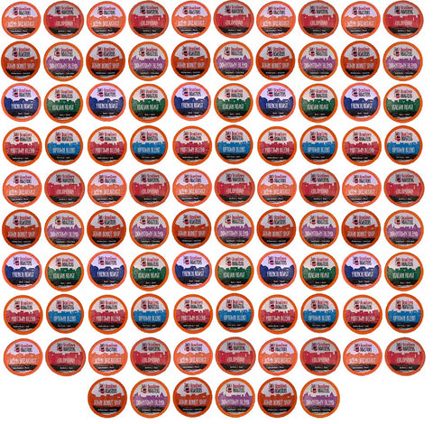 35 Cent K-cups 96 Pack (Choose 8 or 10 Different Coffees) of Beantown Roasters Coffee Only Variety Pack No Decaf, No Flavored