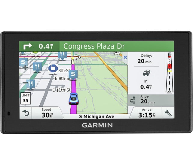 "Garmin - DriveSmart 60LMT 6"" GPS with Built-In Bluetooth, Lifetime Map Updates and Lifetime Traffic Updates"