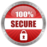 100% secure shopping badge