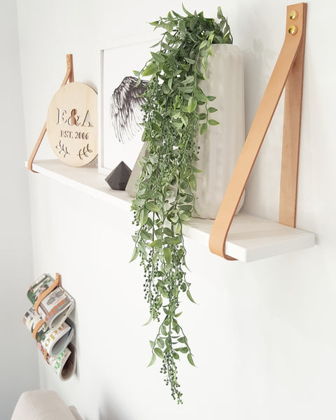 Natural Leather Shelving