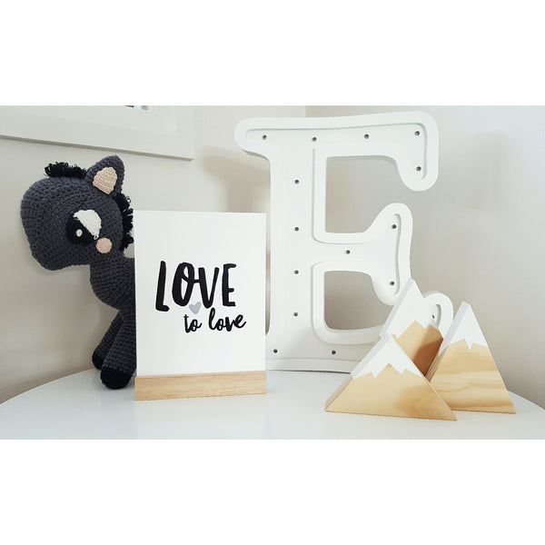 A5 Love to Love Print Black