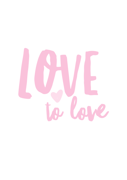 A5 Love to Love Print Pink
