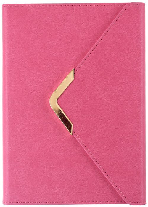 Pink Gold Bar Envelope Journal - Olivia Sophia Stationery