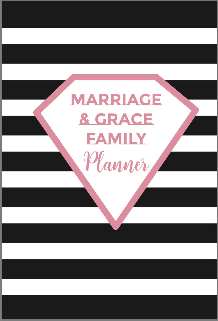 Marriage & Grace Family Planner - Black & White Stripe (PRE-ORDER)