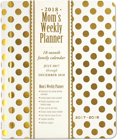 2017- 2018 GOLD DOTS MOM'S WEEKLY PLANNER (Pre-Order)