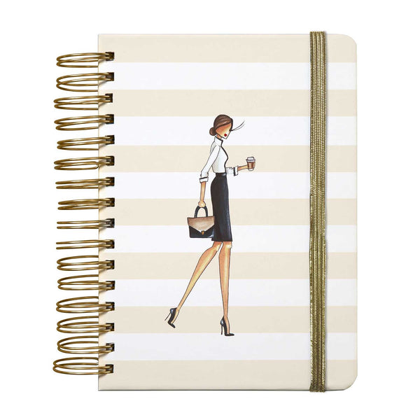 Coffee Chic 3-n-1 Journal - Winks™ - Olivia Sophia Stationery  - 1