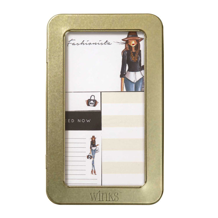 Sticky Note Tin - Winks™ (Fashionista Hat)
