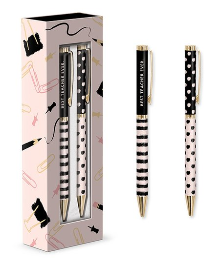Best teacher ever boxed pen set of 2