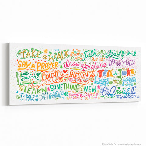 "Joy Manifesto Canvas Wall Art 30""x12"""