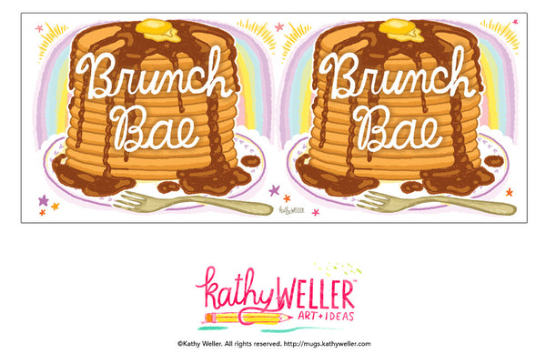 BRUNCH BAE Pancakes Hand Lettered Mug