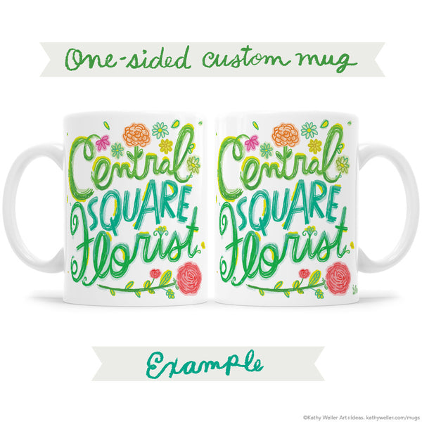 One-Sided Custom Mug Design