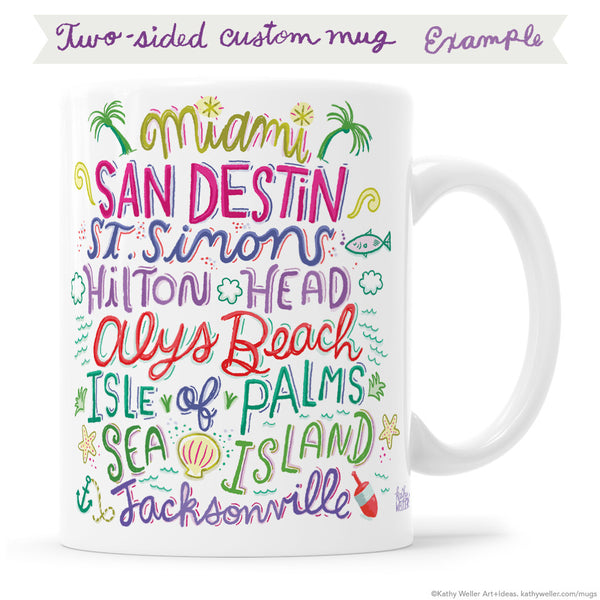 Two-Sided Custom Mug Design